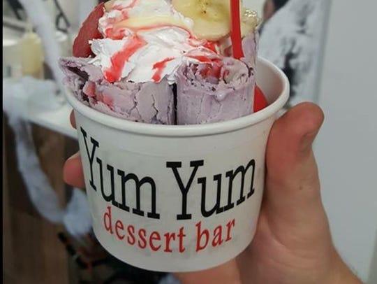 Rolled ice cream at Yum Yum dessert bar in Shreveport.