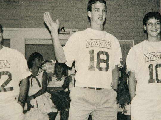 Peyton Manning pictured here in his high school yearbook during his senior year at Isidore Newman  New Orleans.
