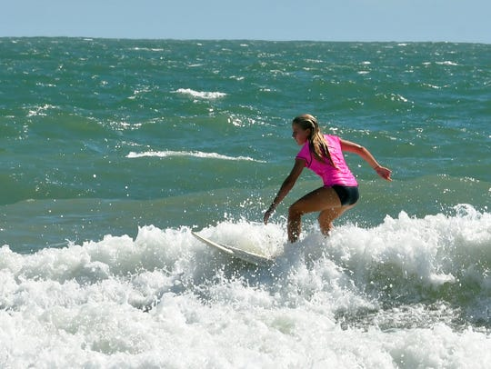 Salty Sweet Women's 2017 Pro-Am Surf Contest hosted by the Cocoa Beach Pier. The competition included kids and adults in several categories.