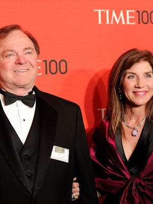 This file photo taken in 2012 shows Continental Resources CEO Harold Hamm and his-then wife, Sue Ann Hamm, attending the TIME 100 gala in New York City.