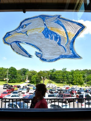 Nashville is behind the Predators, including the staff at the Hermitage YMCA where they drew a Predators logo on the front window Friday June 2, 2017, in Nashville, TN
