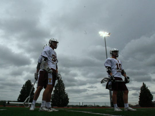 Turpin's lacrosse team prepares for a match at home