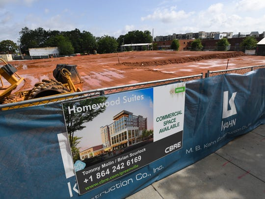 Future site of Homewood Suites on South Main St. in
