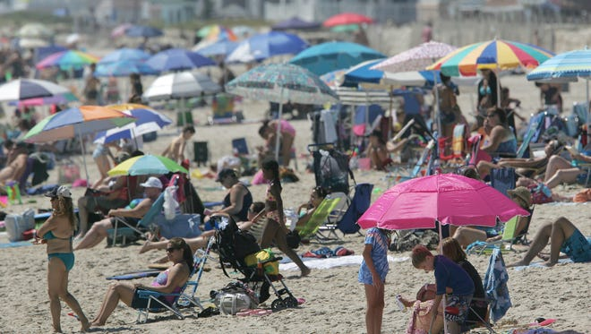 Crowds hit the beach in Point Pleasant Beach in this file photo from 2011/
