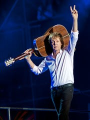 Paul McCartney performs at Lollapalooza at Grant Park in 2015.