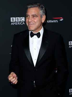 George Clooney arrives at the 2013 BAFTA Awards at the Beverly Hilton Hotel on Nov. 9, 2013 in Beverly Hills.