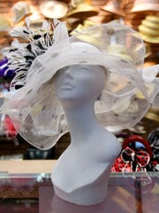 White hat from Mr. Song Millinery in Southfield, Mich.,
