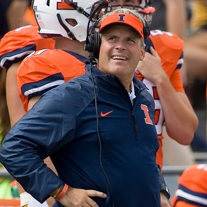 Tim Beckman was fired by Illinois one week before the