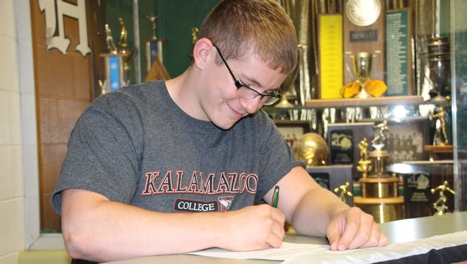 2016 Howell High School graduate Greg Kearns will major in business and kick for the Kalamazoo College football team in the fall.