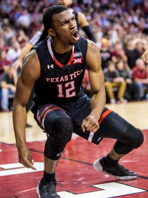 Texas Tech guard Keenan Evans