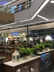 Dining areas at the Century City Mall in Makati, Manila,