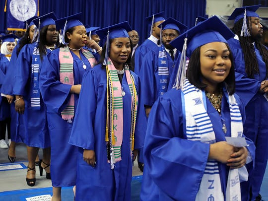 Graduates participate in TSU's graduation ceremony