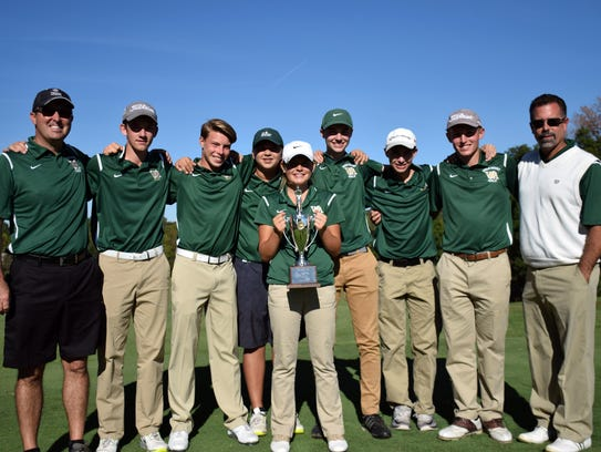Members of Wilson Memorial's golf team pose with the