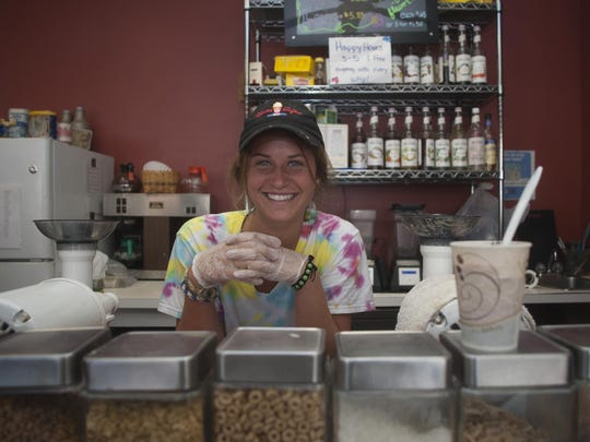Banana whips and other healthy fare is served up from behind the counter of Bashful Banana Bakery & Café in Ocean City.