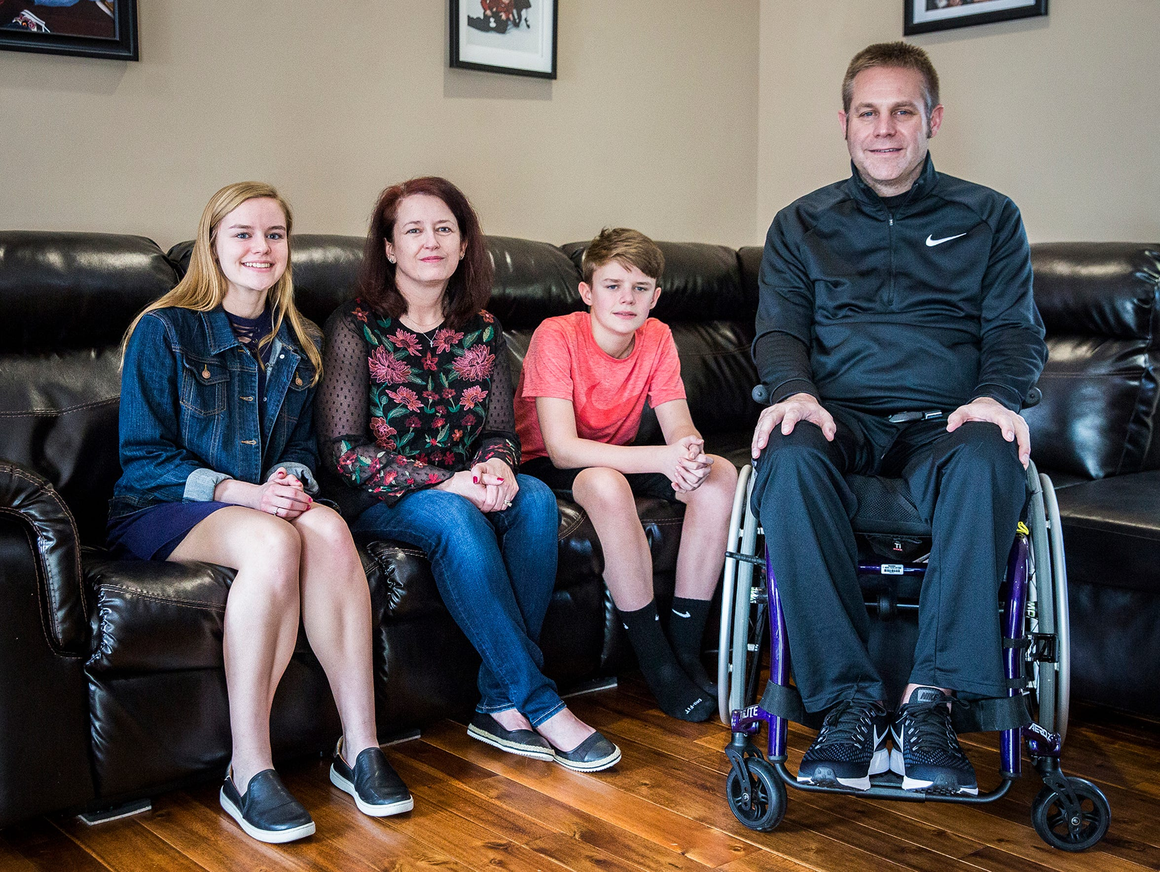 Ashley Wright (from left), Angela Wright, Zach Wright