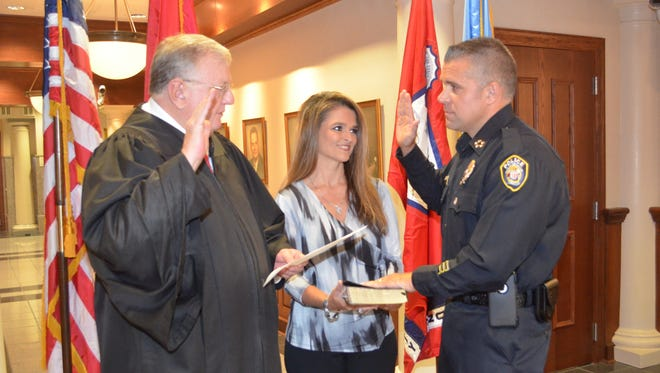 Wiser swears in as the next Chief of Police in Jackson.