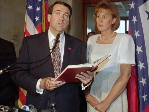 Mike Huckabee, then the lieutenant governor of Arkansas,