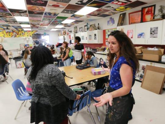 El Dorado High School art teacher Candie Printz met