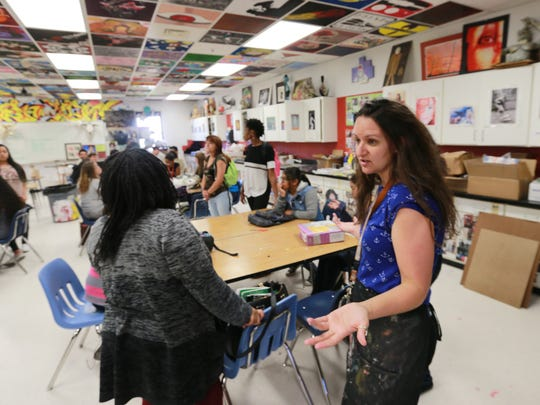 El Dorado High School art teacher Candie Printz met with students who will participate in the turning trash into artwork. To combat trash and pollution in the city, students plan to partner with community groups to collect and sort trash. Once the trash is sorted, students will work with local artists to design and create individual artwork out of the junk.