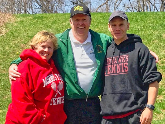 Morris Knolls tennis coach Dan Benz and his progeny,