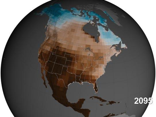 A NASA simulation shows underground soil moisture in