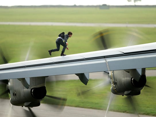 """Tom Cruise in a scene from the motion picture """"Mission"""