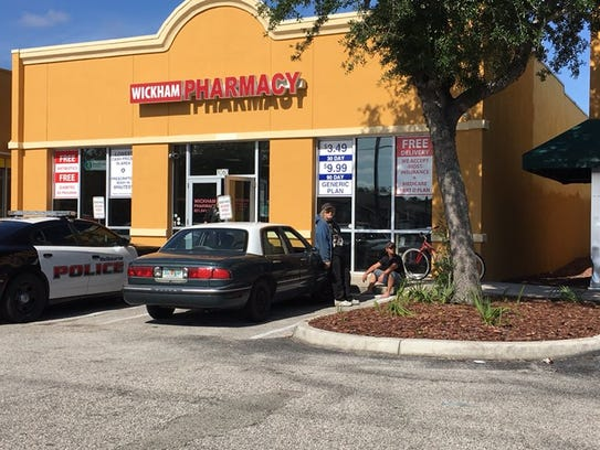 A robbery was reported at the Wickham Pharmacy April