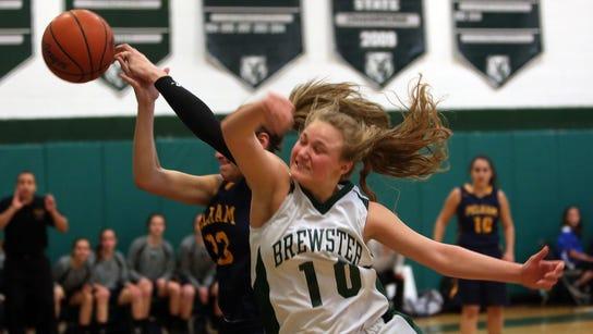 Brewster defeated Pelham 51-41 in a girls basketball
