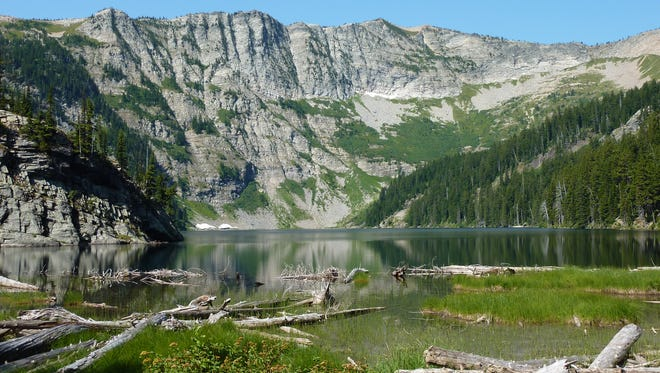 Wanless Lake is one of many high mountain lakes in the Cabinet Mountains Wilderness Area.