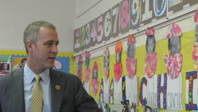 U.S. Rep. Sean Patrick Maloney, D-Cold Spring, at the Poughkeepsie Head Start Center of Astor Services for Children & Families on Delafield Street. The center lost 22 jobs and 86 spots for children during the sequester.