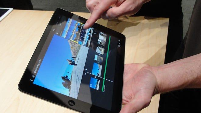 Apple's iPad Air tablet is seen Oct. 22 in San Francisco.