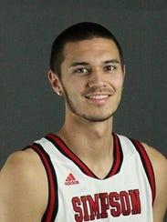 Simpson University's Josh Brakkee.