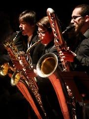A trio of saxophones at a previous Prism concert at
