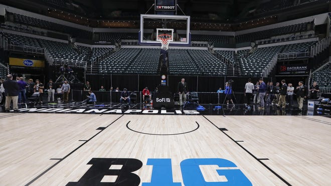 The first day of the Big Ten tournament Bankers Life Fieldhouse in Indianapolis had been held in March before the event became a casualty of the coronavirus shutdown.