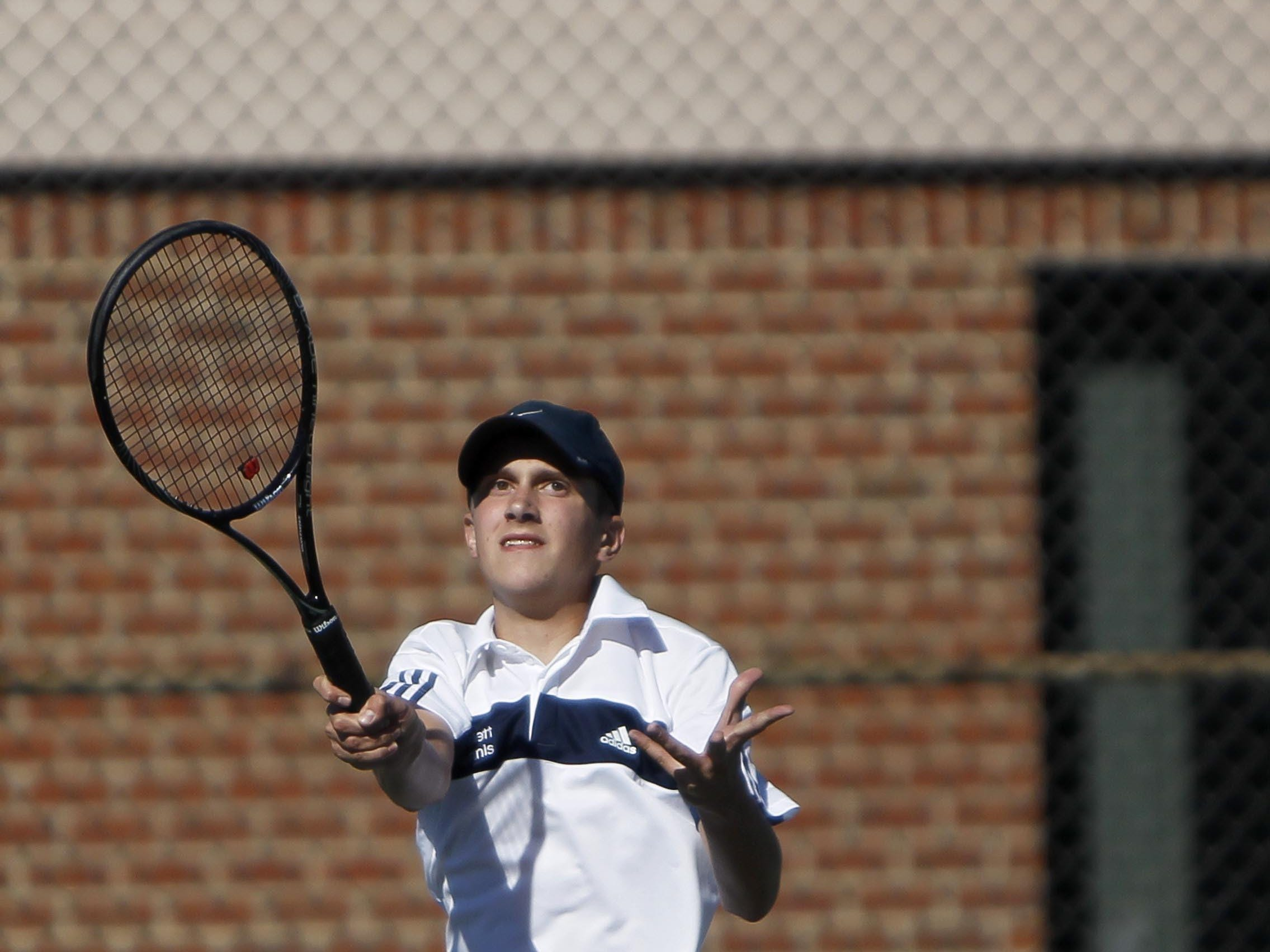 No. 1 singles player Matt Stewart is one of 10 returning starters to a Haslett boys tennis team that is looking to capture its fifth straight league and regional titles.