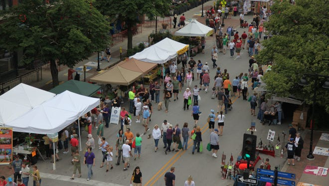 The Des Moines farmers market is held 7 a.m.-noon Saturdays, May through October.