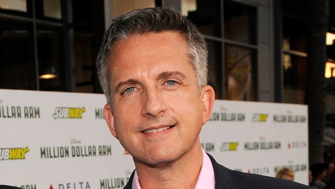 "In this May 6, 2014 file photo, Bill Simmons arrives at the world premiere of ""Million Dollar Arm"" at El Capitan Theatre in Los Angeles."