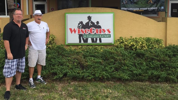 Bill Nychay and Lou Manzella recently opened WiseGuys A Chicago Eatery in Indian Harbour Beach.