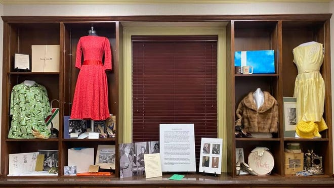 An exhibit of vintage clothing and women's wear from the Boston Store are on view at The Rialto Restaurant in downtown Fort Smith at 720 Garrison Ave. The restaurant is located where the Boston Store once stood.