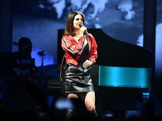 Lana Del Rey, in this photo at Prudential Center in