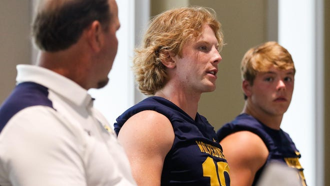 Prince Avenue Christian's Brock Vandagriff speaks during the Clarke/Oconee Media Day in July. Vandagriff and Rabun County's Gunnar Stockton will square off on ESPNU on Sept. 11.