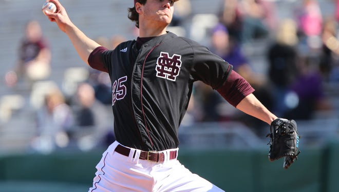 Mississippi State pitcher Dakota Hudson will get the opening day start. against Florida Atlantic on Friday.