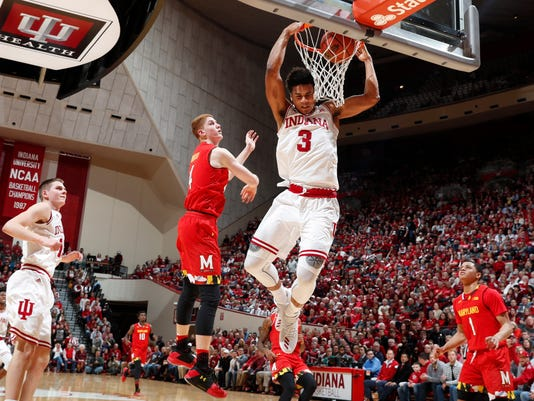 NCAA Basketball: Maryland at Indiana