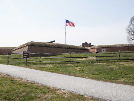 An exterior view of Fort McHenry in Baltimore. This