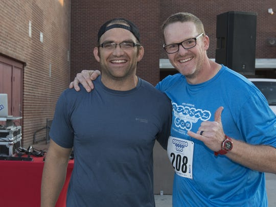 Johnno Lazetich and Steve Hatcher during the 49th Annual Journal Jog in Reno, Nevada on Sept 10.