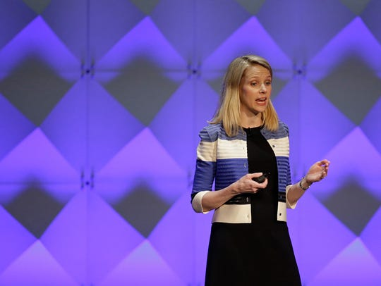 Yahoo CEO Marissa Mayer delivers the keynote address