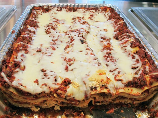 Lasagna is one of the most popular items at Sauce Lady