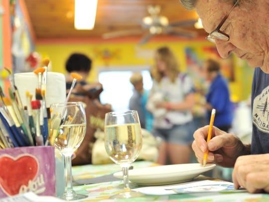 There are two opportunities to paint and enjoy adult