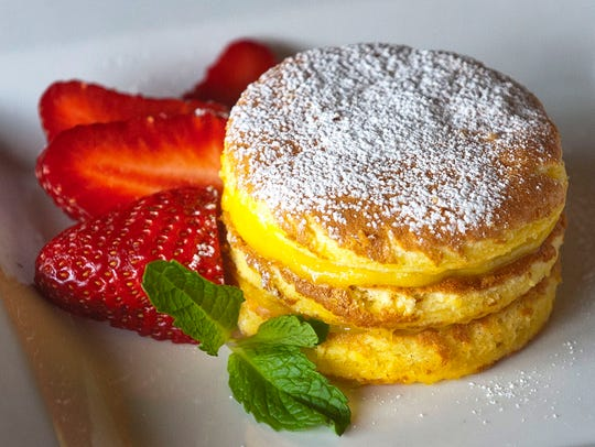Camille Glenn's Sponge Cake is made with eggs, sugar,