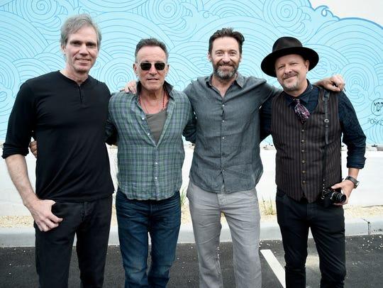 (L-R) Jay Sugarman, Bruce Springsteen, Hugh Jackman
